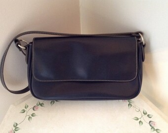 Liz Claiborne Black Villager Shoulder Bag