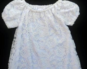 "Lace christening dress, Clothing for girls, size 6-12 months, Baby Blessing dress, ""READY TO SHIP"""