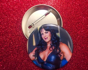 Pin button of wrestling star Chyna
