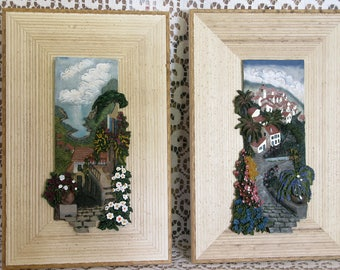 Italian landscapes PAINTED IN RELIEF