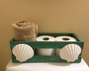 Distressed bathroom storage