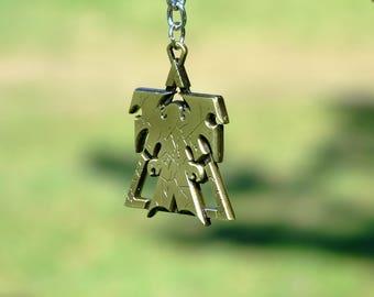 Starcraft 2 Terran Emblem Keychain Inspired Jewelry