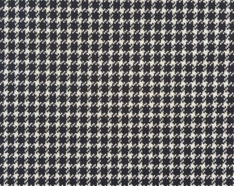 1.7 yards// Vintage Houndstooth Polyester Fabric in Slate Grey // Free Shipping // 60 inches by 64 inches // 1960s // 1970s