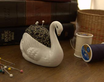 Elegant Swan Pin Cushion