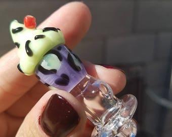 Leopard cupcake