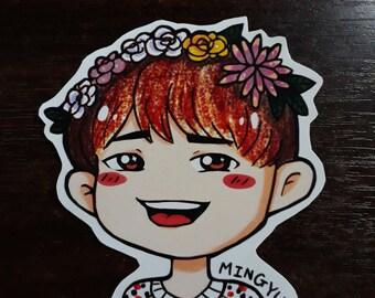 S209 Mingyu Flower Crown Sticker