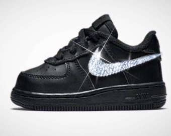 Nike Air Force Schwarz Glitzer