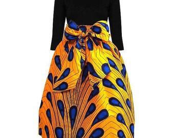 Bola Ankara Skater skirt, Ankara Midi skirts, Ankara fabric, Ankara skirt, African midi skirt, Short skirt, African print skirt, Midi skirts