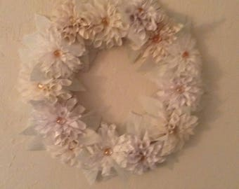 Handmade dahlia wreath