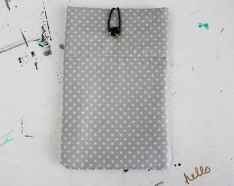 MINI iPad Cover, iPad Case, Tablet Cover, Tablet Case - Gray & White Polka Dots