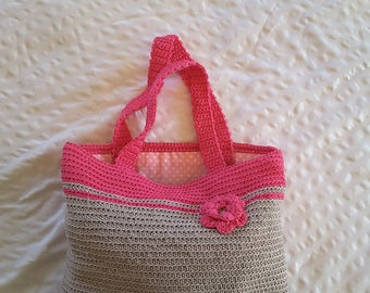 Crocheted and Fabric Lined Little Girl's Purse