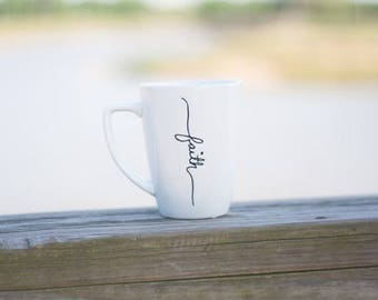 Cursive Faith Coffee Cup