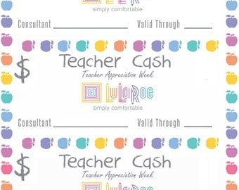 Teacher Cash for teacher Appreciation week
