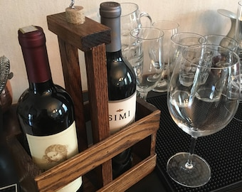 Wine Caddy for Two Bottles