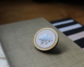Embroidered Cloud Pin