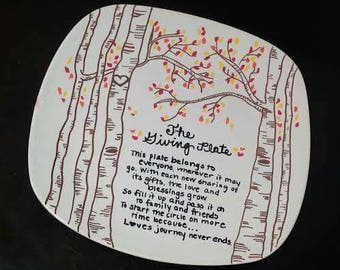 The Giving Plate Birch Trees