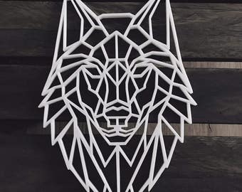 Wolf, Wolf style locus 3D sculpture, geometric series Geometric Nature