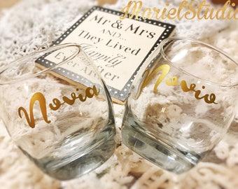 Bride wine glass/ novia wine glass/ mexican wedding/ wedding