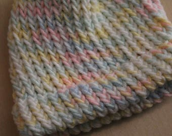 Multicolored preemie/newborn knit cap
