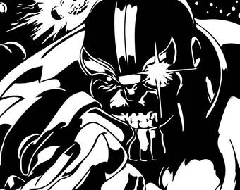 Thanos Concrete Print