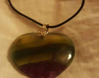 Onyx Necklace with a Heart