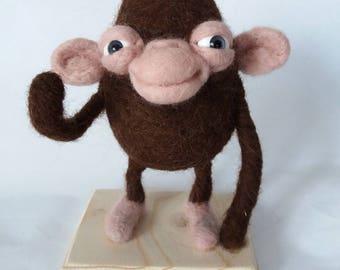 monkey chimpanzee needlefelting