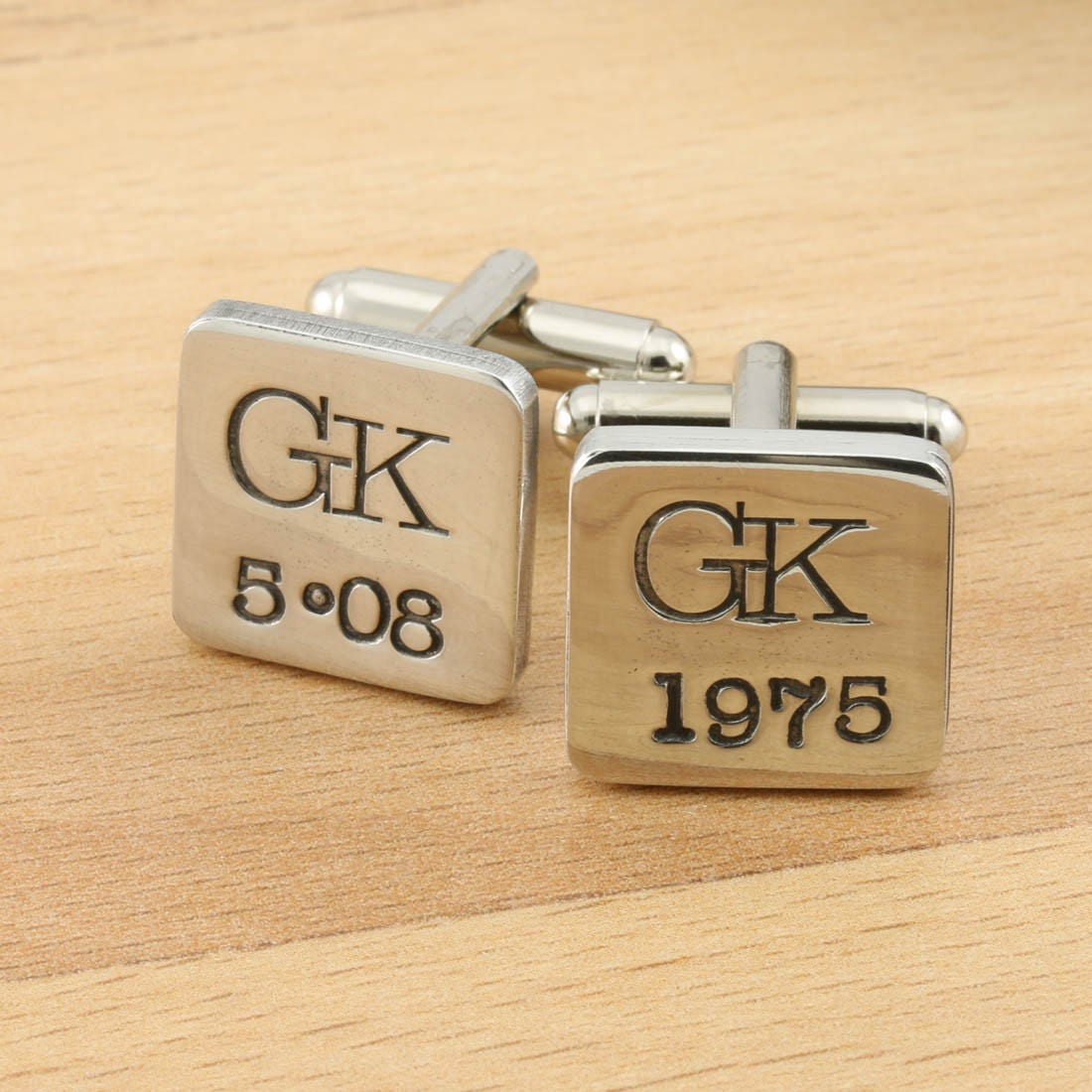 Personalised Special Date Pewter Cufflinks,Wedding Gift,Best Man ...