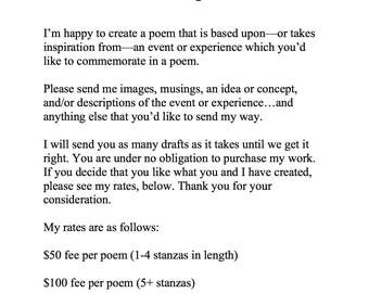 Considering commissioning a poem?
