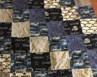 Rag quilts Dallas cowboy special orders available