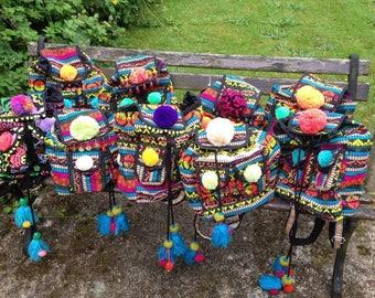 Pom Pom Customised Backpacks with Tassels