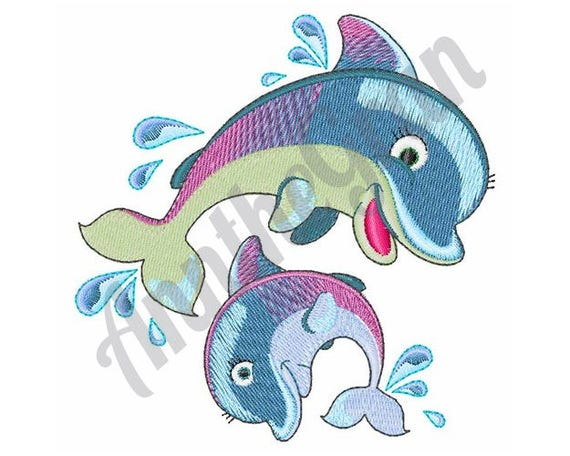 Dolphins Embroidery Design Machine Embroidery