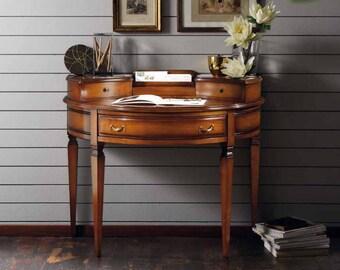 Solid cherry wood Crescent Secretary desk with secret