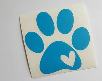 Paw Print Decal, Dog Paw Decal, Paw Decal, Pet Car Decal, Dog Lover Decal, Pet Decal, Dog Decal, Dog Car Decal, Pet Lover Decal, Dog Lover