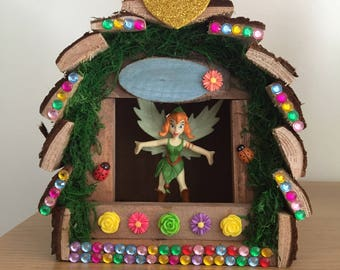 Beautiful wooden customised fairy house