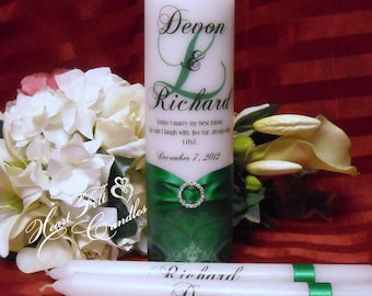 Ornate Flourish Unity Set - Wedding Ceremony Set - Unique Unity Set - Personalized Candles