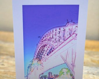 Bridge From Below - Blank Card / All Occassion Card with Envelope