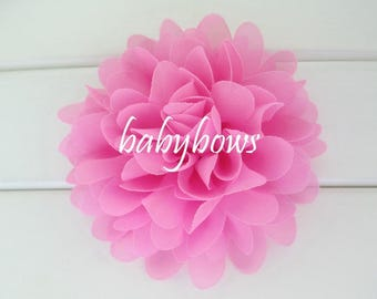 2 Pink Big Flower Baby Girl Flower Hair Clips 1 Pair