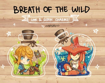 The Legend of Zelda: Breath of the Wild Link and Sidon charms!