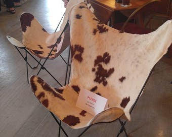 Vintage 1970s Butterfly Chair w/ Cowhide Seat