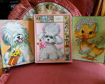 Vintage Birthday Cards - Cody Pet Set