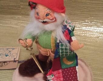 "Annalee Doll- 5"" Ungnome Tailor, Gnome Tailor 1997"