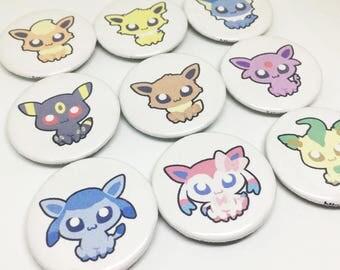 Pokemon Eeveelution Button Pins