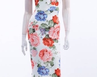 New Floral Body con dress