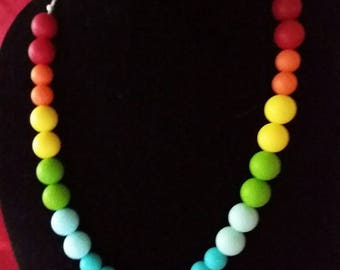 Rainbow mommy necklace