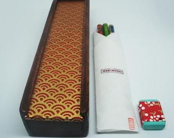 Japanese pencil box set
