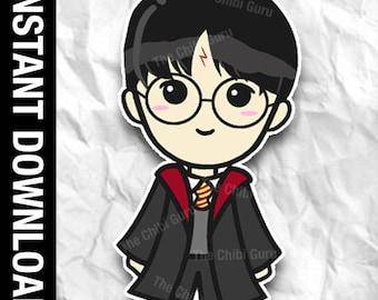 Harry Potter Chibi Etsy