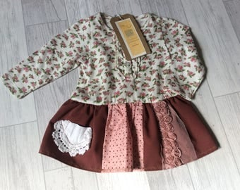 One of a kind, vintage inspired baby dress age 3-6 months