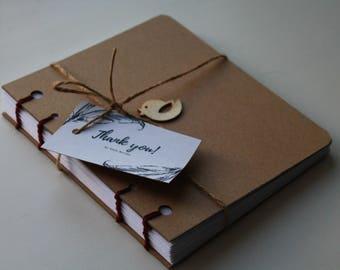 """Hand Bound Coptic Stitch Notebook """"Little Birdy"""""""
