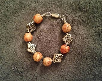 Beaded Bracelet, Earth Tones