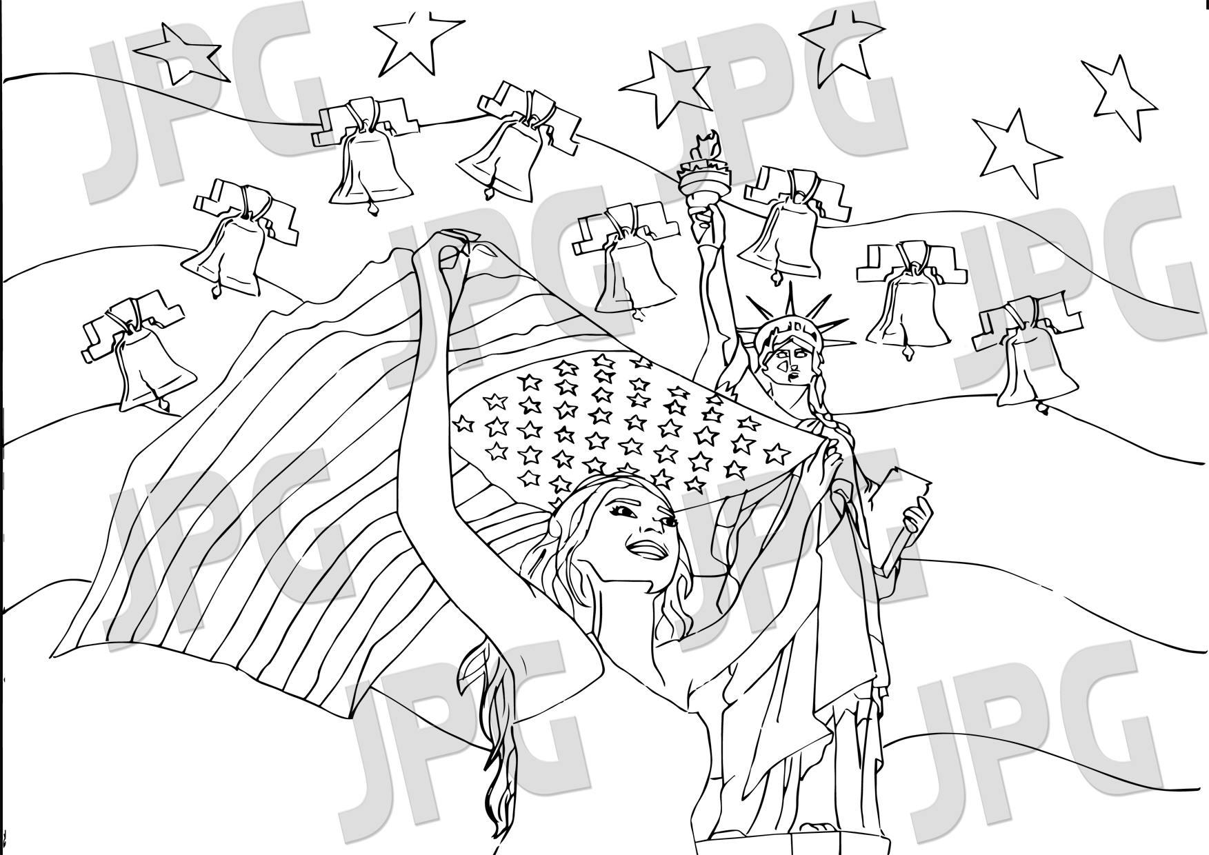 Bonito Página Patriótica Para Colorear Ilustración - Ideas Para ...